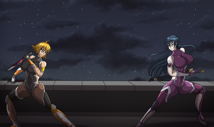 Taimanin Asagi: Duel of the Sisters by LionheartXIII