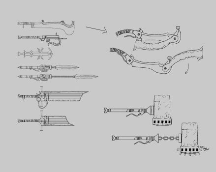 Melee Weapons Concepts by Mentosik8