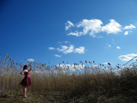 Skies of Blue Clouds of White by LucySkyDiamonds