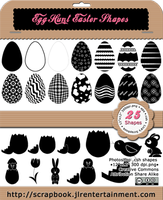 Egg Hunt Easter Shapes by jlr-lica