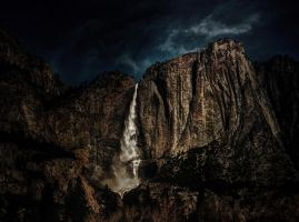 Yosemite Falls with Flowing Mountain by AugenStudios