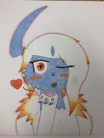 Blowkiss~ by Glacie-the-Glaceon