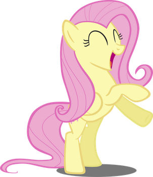 Happy Fluttershy is happy by greseres