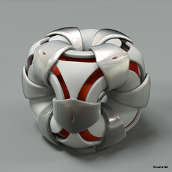 Circled Cube by Absork