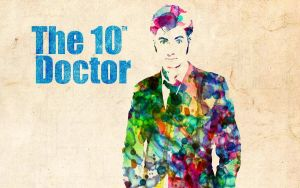 10th Doctor: Watercolor by ElijahVD