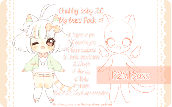 [P2U] Chibi Baby Base pack 2.0 by Valyriana