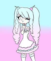 Cotton Candy Girl by TheJewelKitty