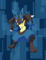 Lucario by JJFryGraphicARTS
