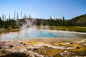 Hot Spring Yellowstone by Mana-C-E