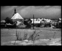 Winter 1975 in Town by panfoto