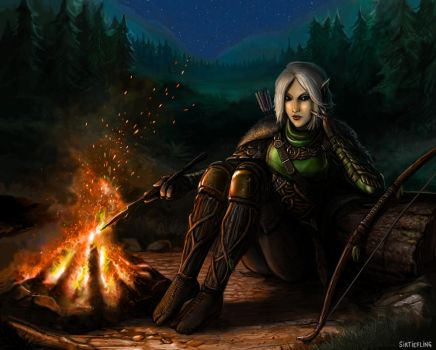 The Waywatcher's Camp by SirTiefling
