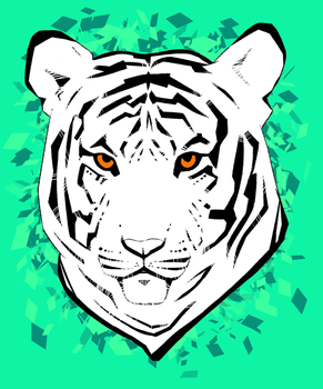 Stylized Tiger by raisaoren