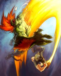 Guile vs Blanka by MinohKim
