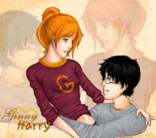 Harry and Ginny Intertwine by CatherineKayCornerr