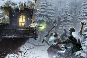 Frost Giant Battle by Akeiron