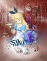 Alice's Tea Party by Ama-Natto