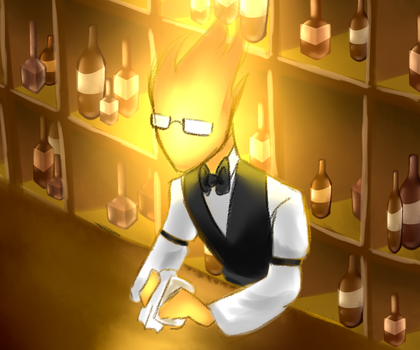 -Undertale- Grillby by Bea-K