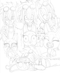 Billy and Roxie Sketchdump 2 by PiplupSTARSCommander