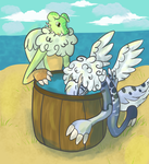 Apple bobbing with Frio by HamsterFluf