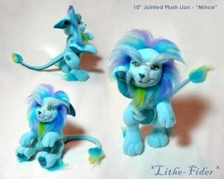 Jointed Blue Lion 'Mince' by Lithe-Fider