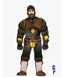 Armored Landsknecht concept  by Woad-Warrior
