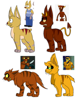 Futurama Warrior Cat Designs by Radicalhat