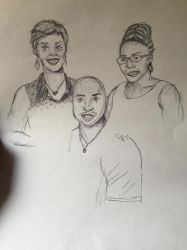 Friends family portrait by Eriartist