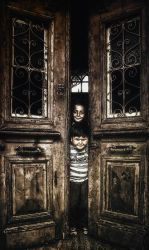 kids in door by GDALLIS