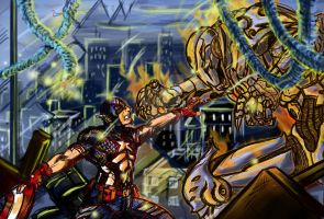 Cap vs. Ultron fin by n3v3rw1nt3rw0lf3