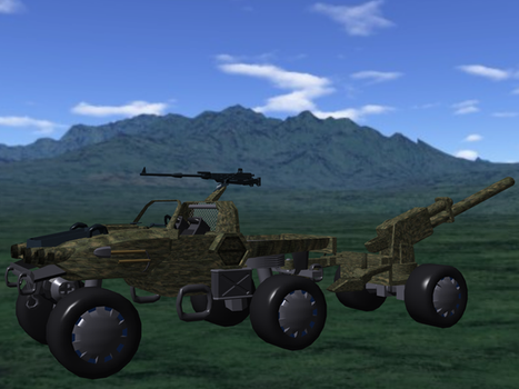 Type 30 STV with Artillery by Wes-of-StarArmy