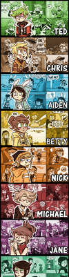Kid n' Teenagers Character Backgrounds by GypsyDragonZephur