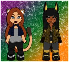 AT: Feline and Canine by Prismativity