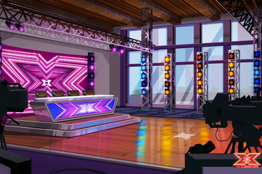 The X Factor Life - Auditions Stage Background by DavidGalopim