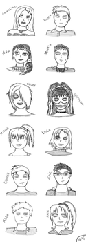 L.I.M.E Characters Sketches by SpookyMuffin4545