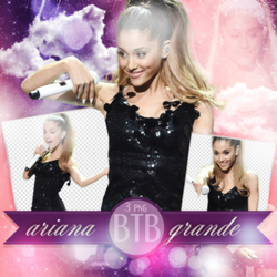 PNG Pack(105) Ariana Grande by blacktoblackpngs