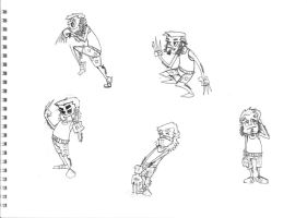 WOLVERINE character sketches by ferwar