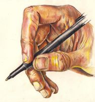 Hand with Pen FINISHED by rhyshaug