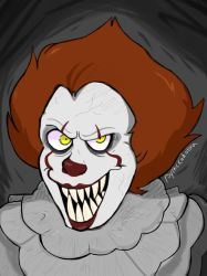 Pennywise by psychickadabra