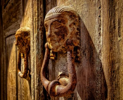 Door Knockers, Lindos, Greece by MikeHeard