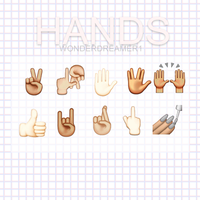 HANDS|emojis. by WonderDreamer1