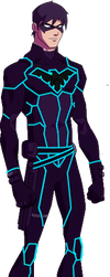 Tron Young Justice Nightwing by rxlthunder