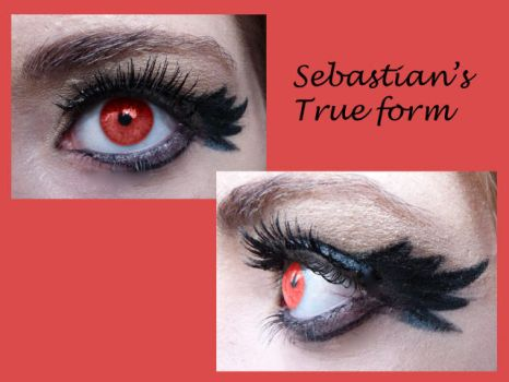 Sebastian's true form inspired makeup by thearabellablack