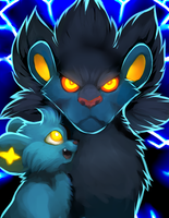 Luxray used Mean Look! by Smushey