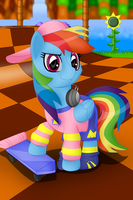 Rainbow Dash in Sonic's Favorite Clothes by sergeant16bit
