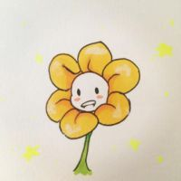 Flowey the flower!! by Linabunforever