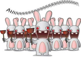 Army of Rabbids by ghostexiled
