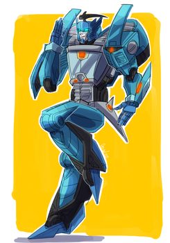 Blurr full body doodle by VolverseLoco