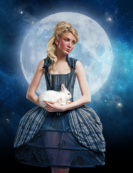 Alice and the Moon by Inadesign