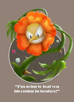 Cuphead: Cagney Carnation by rubendevela