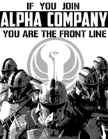 Alpha Company Poster: ...you are the front line by Derzelaz